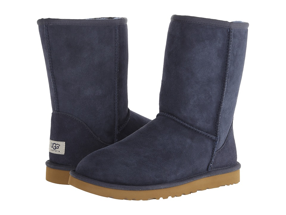 UGG Classic Short Navy Womens Pull-on Boots