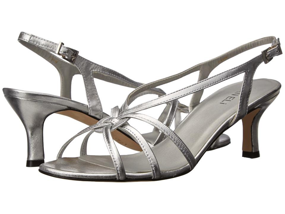 Vaneli - Modesta (Silver Metallic Nappa) Women's Dress Sandals
