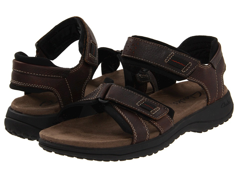 Clarks - Keating (Brown Oily) Men's Sandals