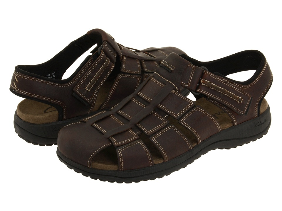 Clarks - Jensen (Brown Oily) Men's Sandals