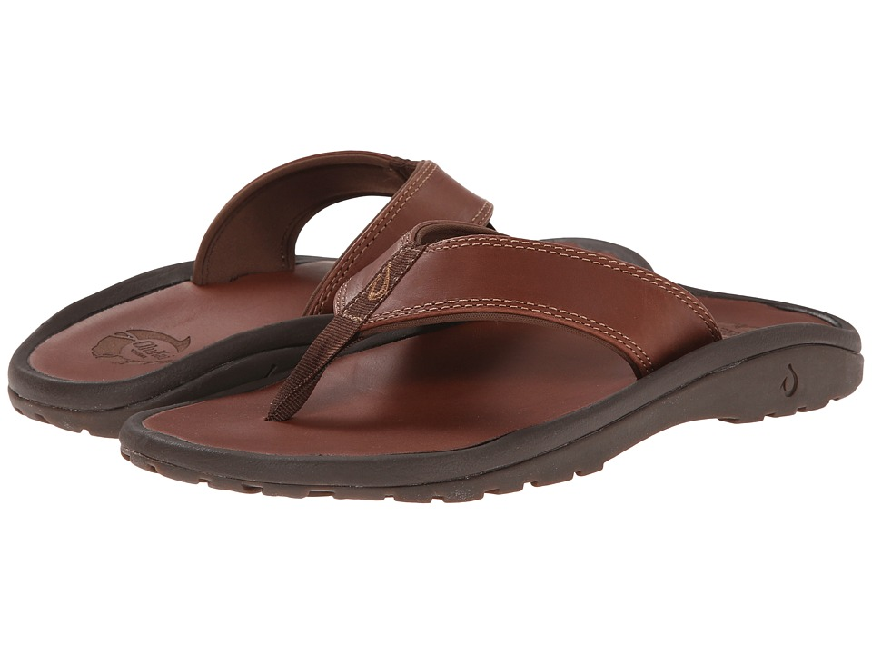 OluKai Ohana Leather (Dark Java/Dark Java) Men