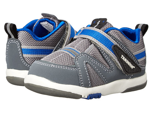 Tsukihoshi Kids - Maru (Toddler) (Gray/Royal Blue) Boys Shoes