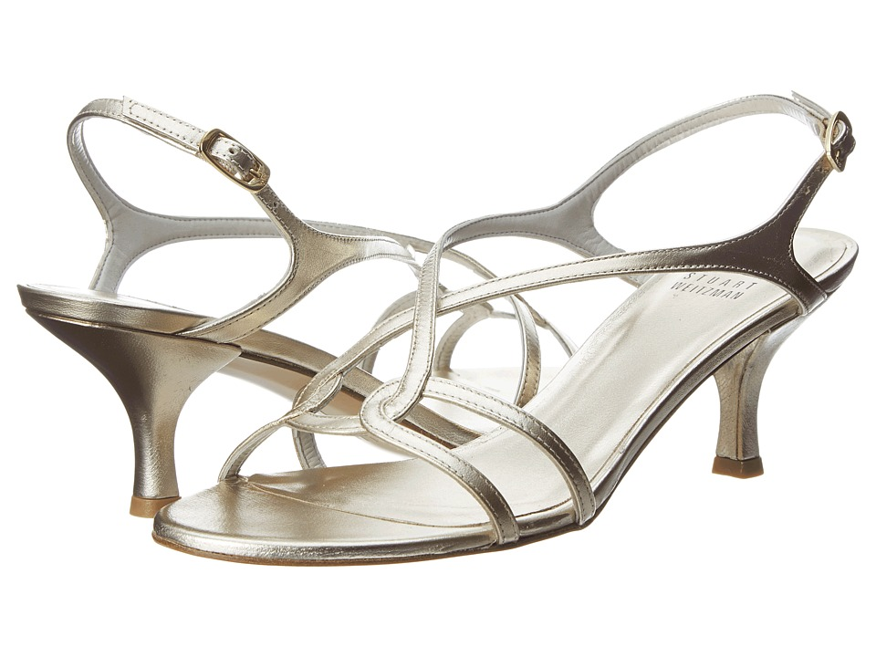 Stuart Weitzman Bridal & Evening Collection - Reversal (Gold Supple Kid) Women's Dress Sandals