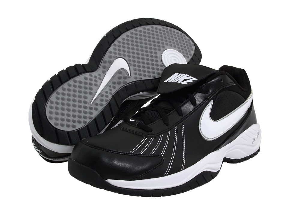 Nike - Air Diamond Trainer (Black/White/Silver) Cleated Shoes