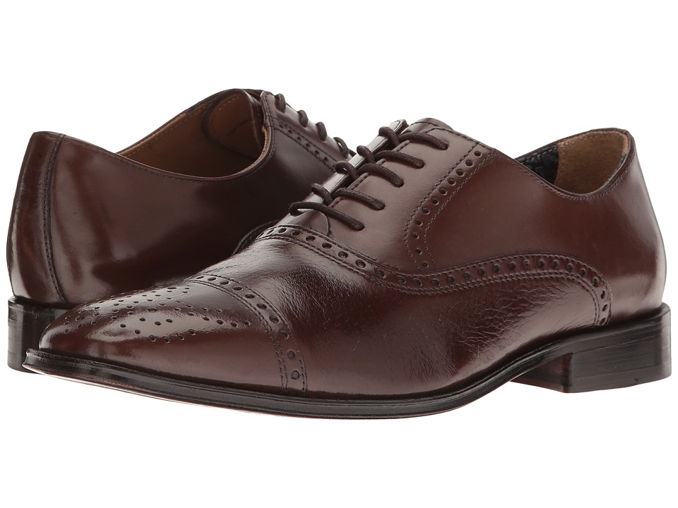 Florsheim - Otavio (Brown Leather) Men's Lace Up Cap Toe Shoes