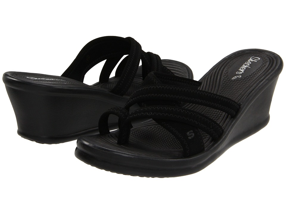 SKECHERS - Rumblers - Beautiful People (Black) Women's Sandals