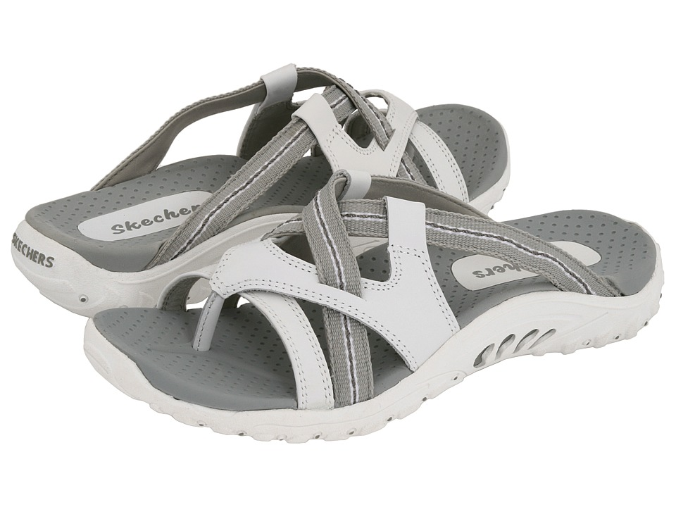 SKECHERS - Reggae - Soundstage (White) Women's Sandals