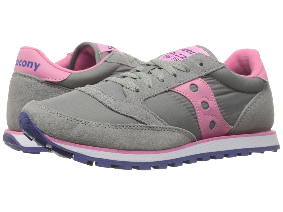 Saucony Originals - Jazz Low Pro (Grey/Pink) Women's Classic Shoes
