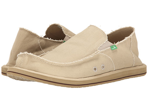 Sanuk - Vagabond Big Tall (Khaki) Men's Slip on Shoes