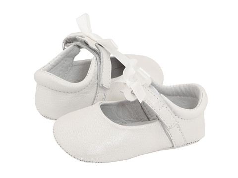 Pazitos - Ballerina (Infant/Toddler) (White Pearlized Leather) Girls Shoes