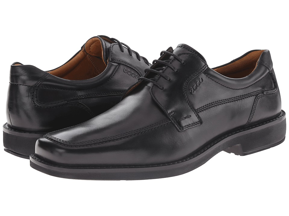 ECCO Seattle Apron Toe Tie (Black Capital Full-Grain Leather) Men
