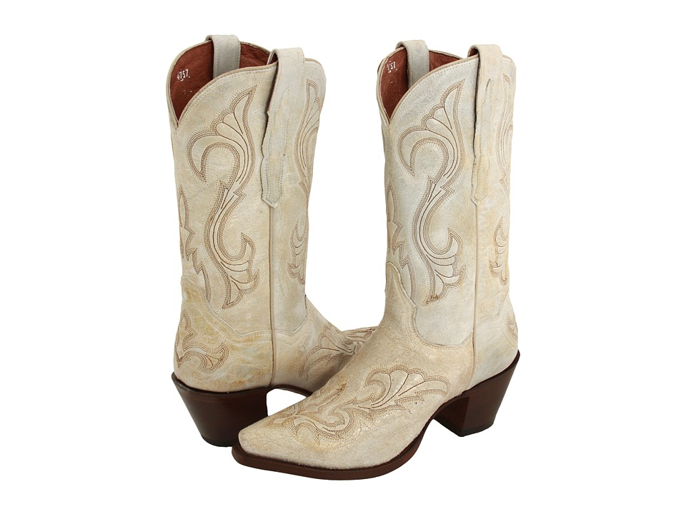 Dan Post - EL Paso (Distressed White) Cowboy Boots