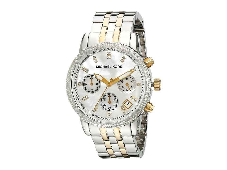 Michael Kors - MK5057 - Ritz Chronograph (Silver/Gold) Watches