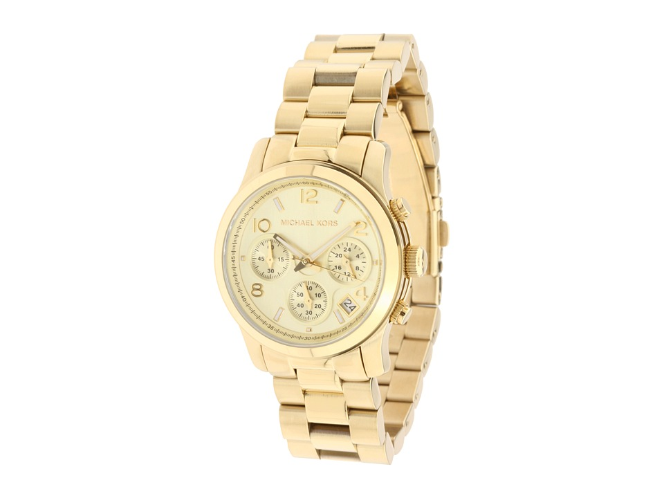 Michael Kors - MK5055 - Runway Chronograph (Gold) Watches
