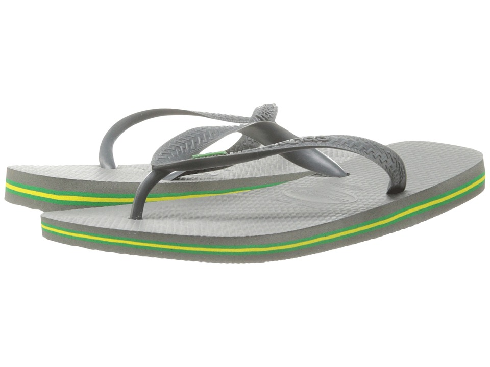 Havaianas - Brasil Flip Flops (Grey) Men's Sandals