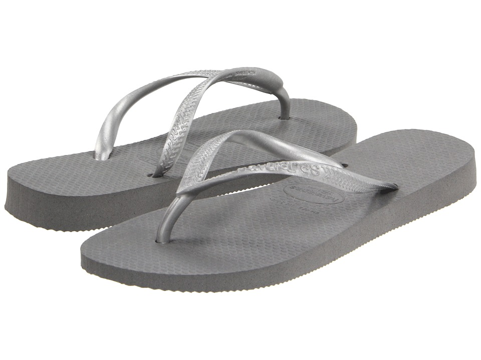 Havaianas - Slim Flip Flops (Grey/Silver) Women's Sandals