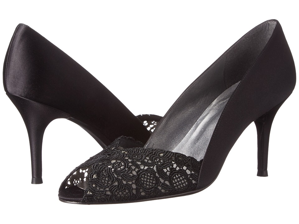 Stuart Weitzman Bridal & Evening Collection - Chantelle (Black Chantilly Lace) High Heels