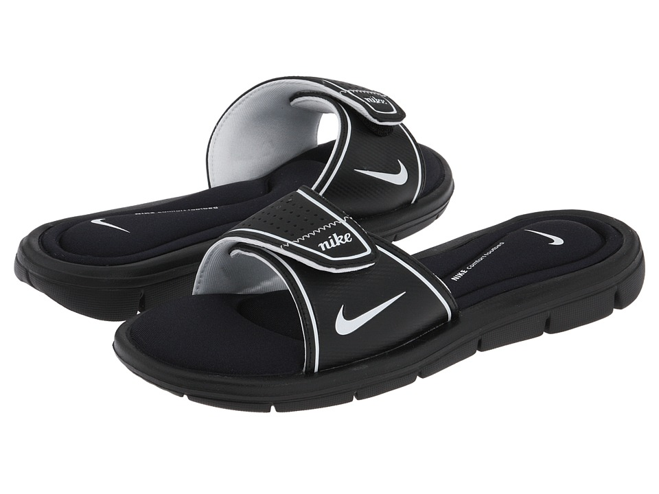 Nike - Comfort Slide (Black/White) Women's Sandals