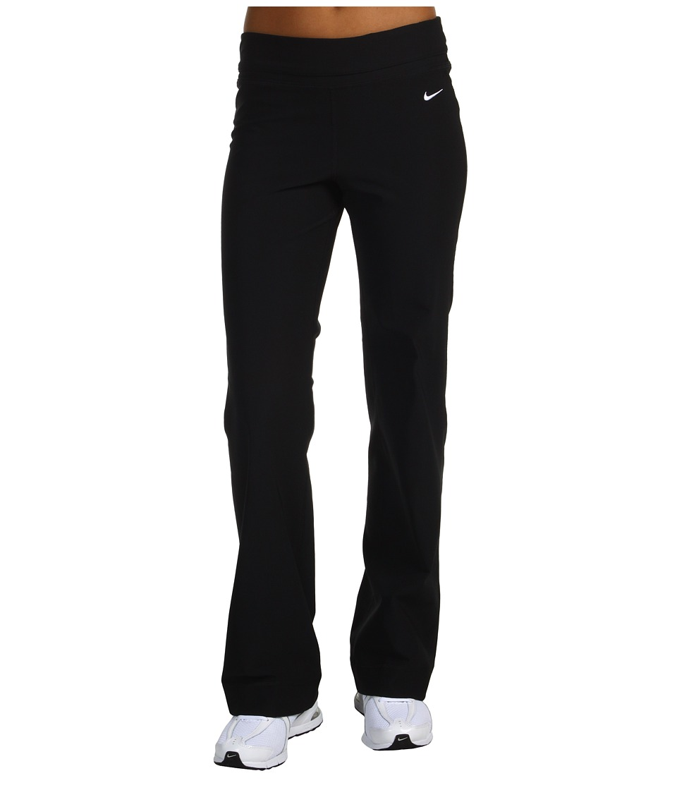 Nike - Be Strong Dri-FIT Poly Pant (Black/Black/Black/(White)) Women's Workout