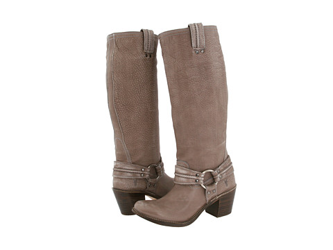 Frye - Carmen Harness Tall (Grey Leather) Cowboy Boots