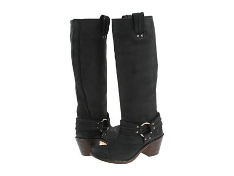 Frye - Carmen Harness Tall (Black Leather) Cowboy Boots