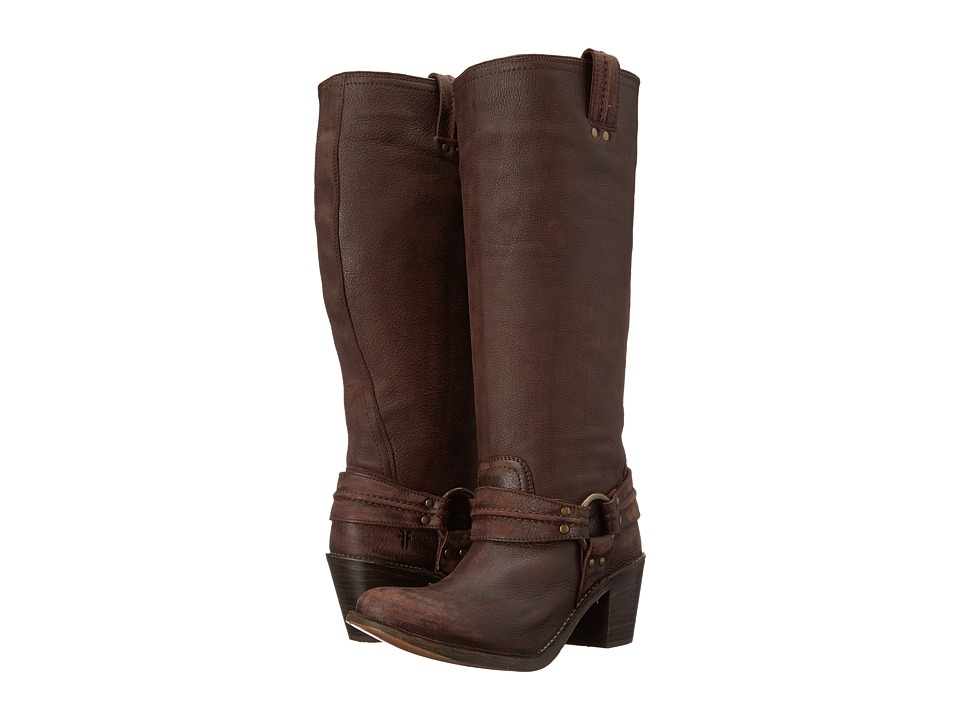 Frye - Carmen Harness Tall (Dk Brown Leather) Cowboy Boots