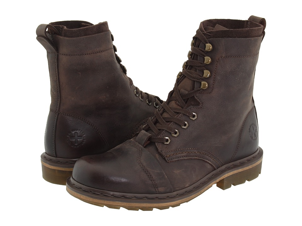 Dr. Martens - Pier (Dark Brown Wyoming/Suede) Boots