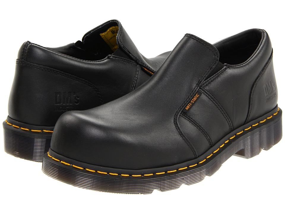 Dr. Martens - Resistor ST (Black Industrial Full Grain) Plain Toe Shoes