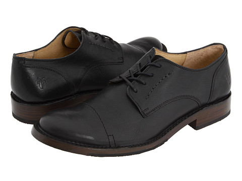 Frye - Oliver Oxford (Black) Men's Lace Up Cap Toe Shoes