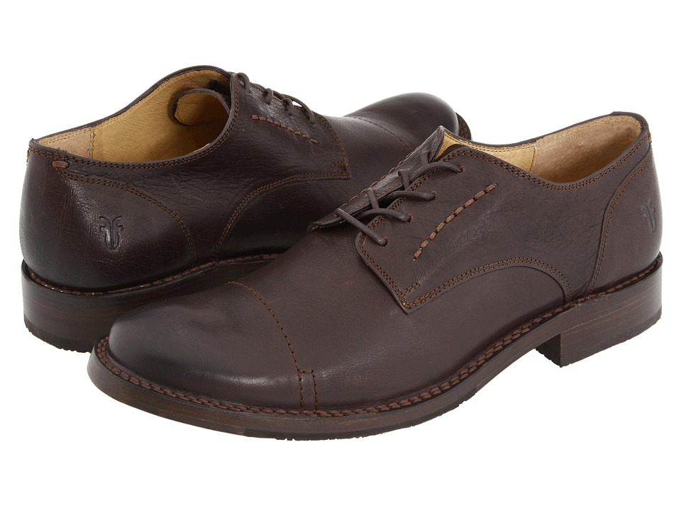 Frye - Oliver Oxford (Dark Brown) Men's Lace Up Cap Toe Shoes