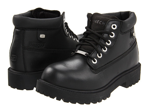 SKECHERS - Verdict (Black) Men's Lace-up Boots