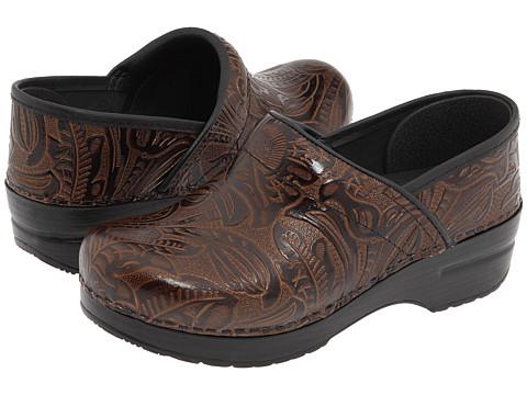 Dansko - Professional (Brown Tooled) Clog Shoes