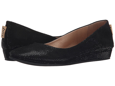 French Sole - Zeppa (Black Wave Snake Print) Women