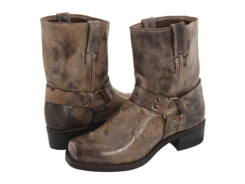 Frye - Harness 8R (Chocolate Vintage Leather) Cowboy Boots