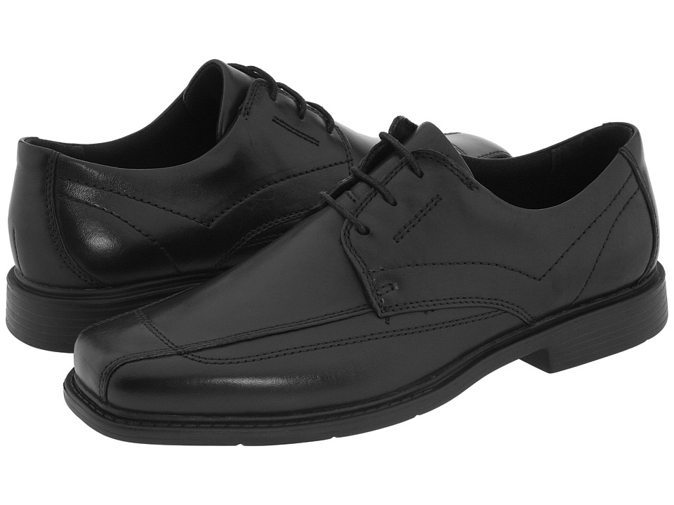 Clarks Newmann (Black Leather) Men