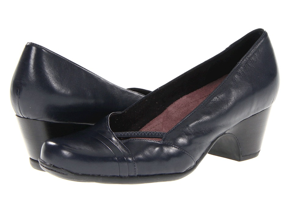 Clarks - Sugar Sky (Navy Leather) Women