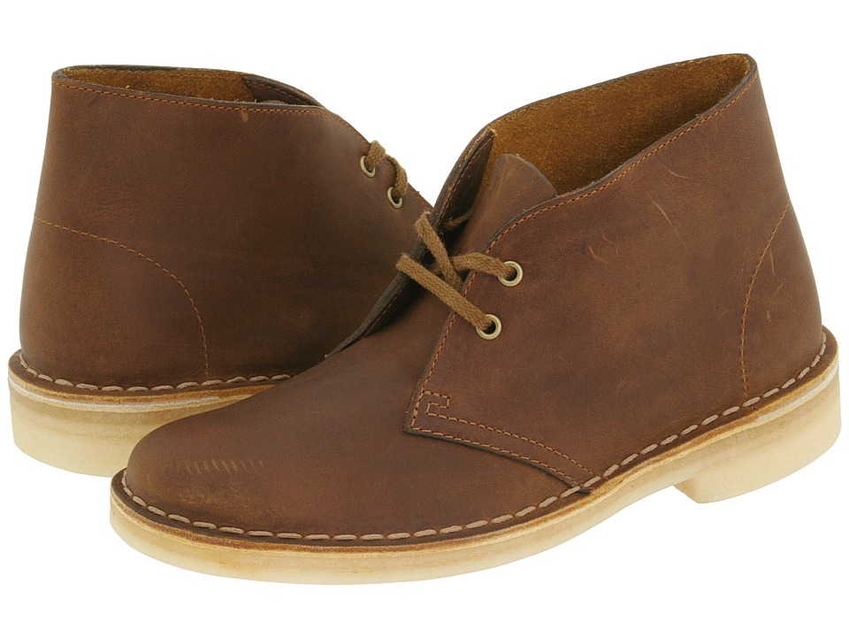 Clarks - Desert Boot (Beeswax Leather) Women's Lace-up Boots