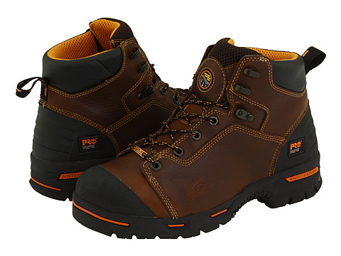 Timberland PRO Endurance PR 6 Waterproof Steel Toe (Brown) Men's Work Lace-up Boots