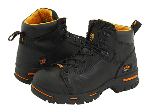 Timberland PRO Endurance PR 6 Waterproof Steel Toe (Black) Men's Work Lace-up Boots
