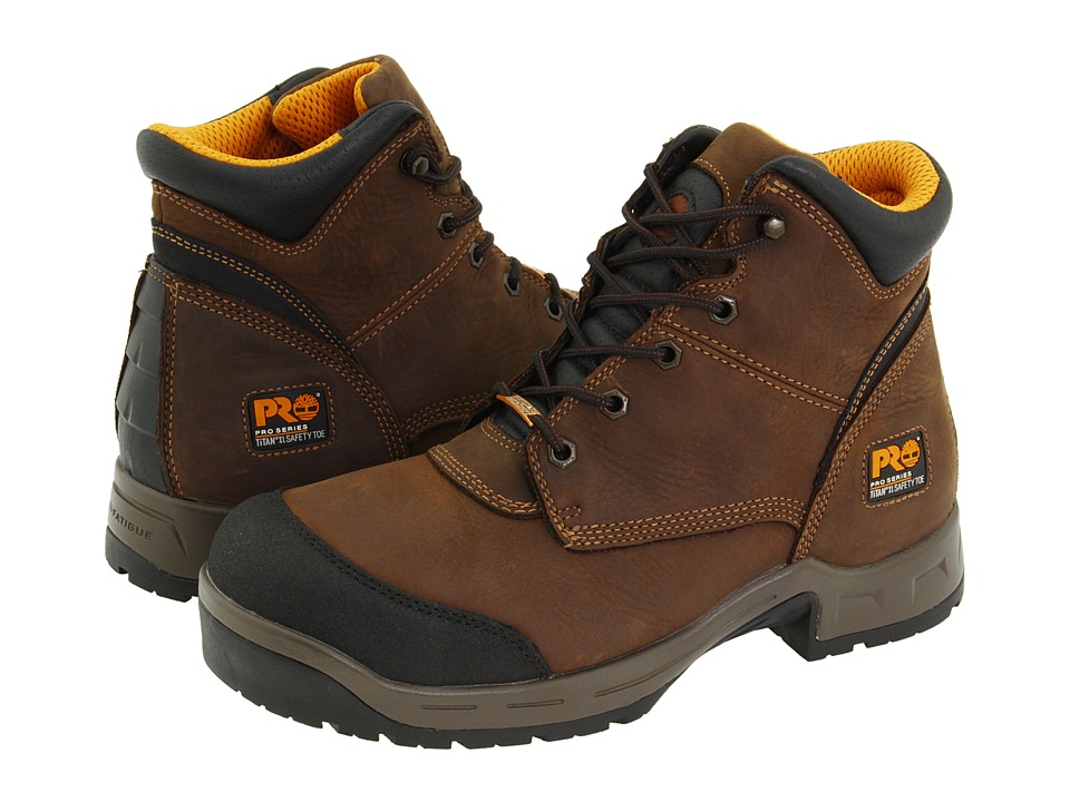 Timberland - TriFlex 6 Waterproof TiTAN(r) XL Safety Toe (Brown) Men's Work Lace-up Boots