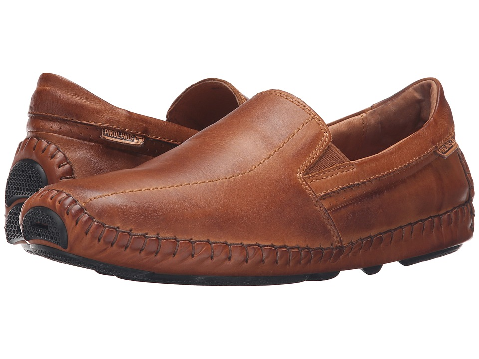 Pikolinos - Jerez Moccasin 09Z-5956 (Brandy Leather) Men's Slip on Shoes