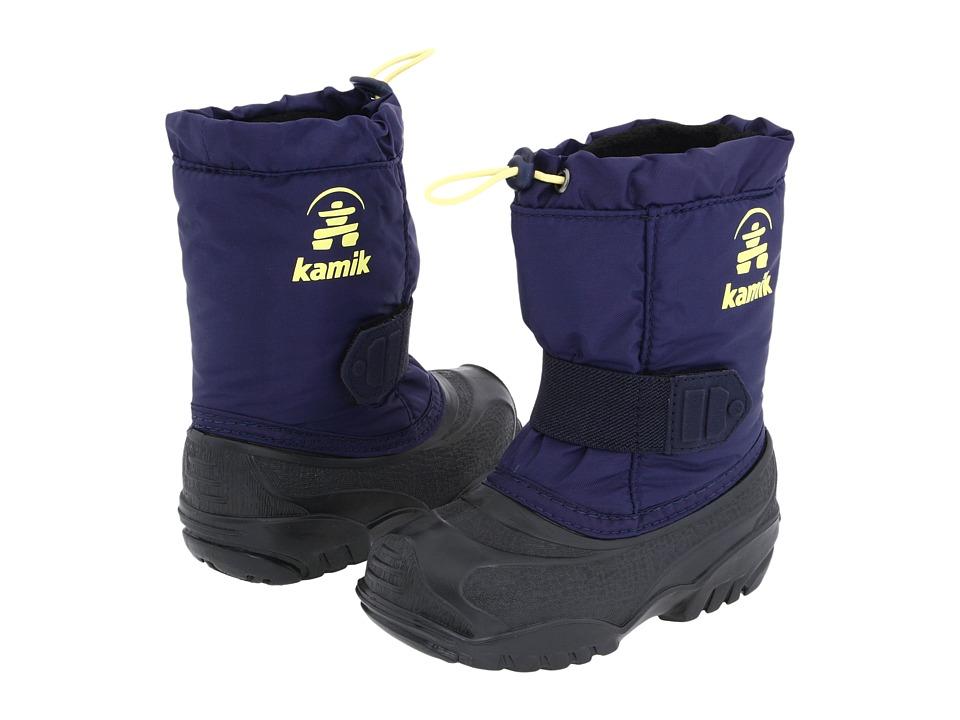 Kamik Kids - Tickle (Toddler) (Navy W/ Yellow) Boys Shoes