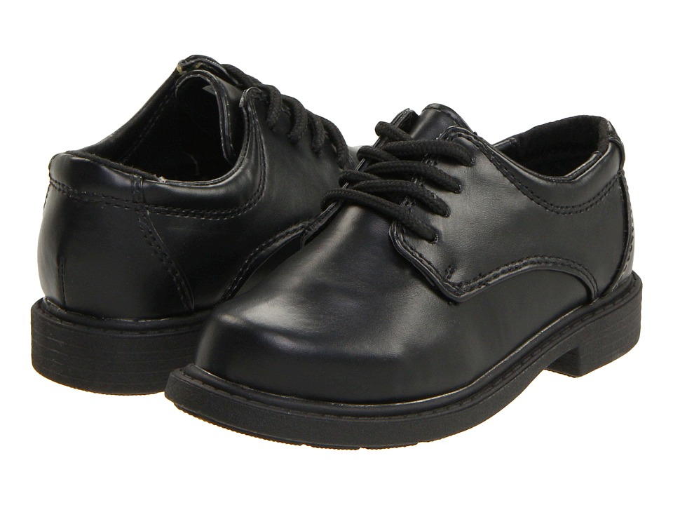 Hush Puppies Kids - Dylan (Toddler/Little Kid) (Black Smooth) Boys Shoes
