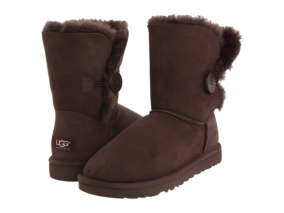 UGG - Bailey Button (Chocolate) Women's Boots