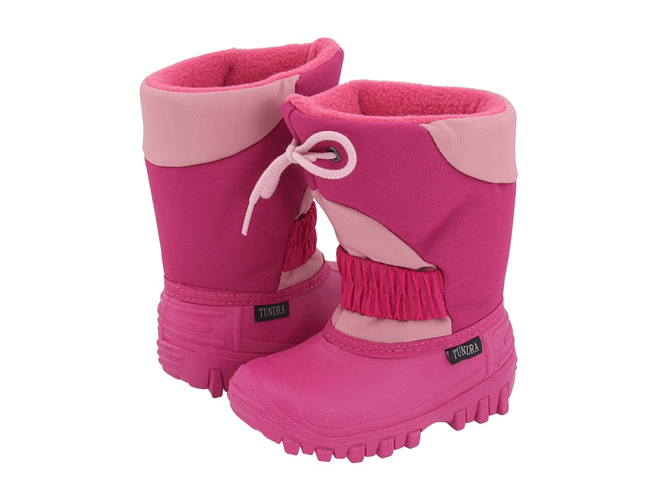 Tundra Boots Kids - Outback (Toddler/Little Kid) (Fuchsia/Pink) Girls Shoes