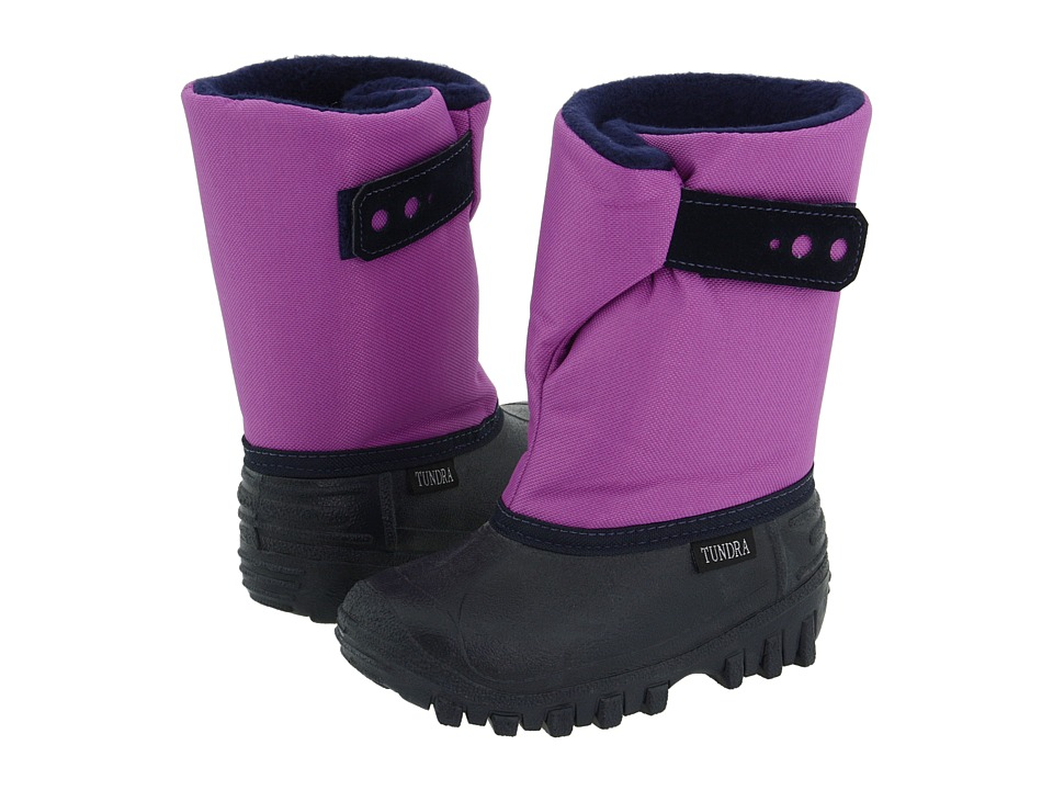 Tundra Boots Kids - Teddy 4 (Toddler/Little Kid) (Navy/Grape) Girls Shoes