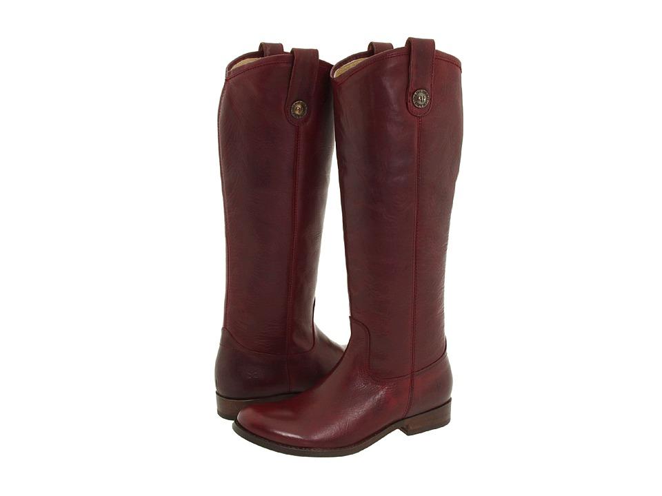 Frye Melissa Button (Bordeaux (Vintage Leather)) Cowboy Boots