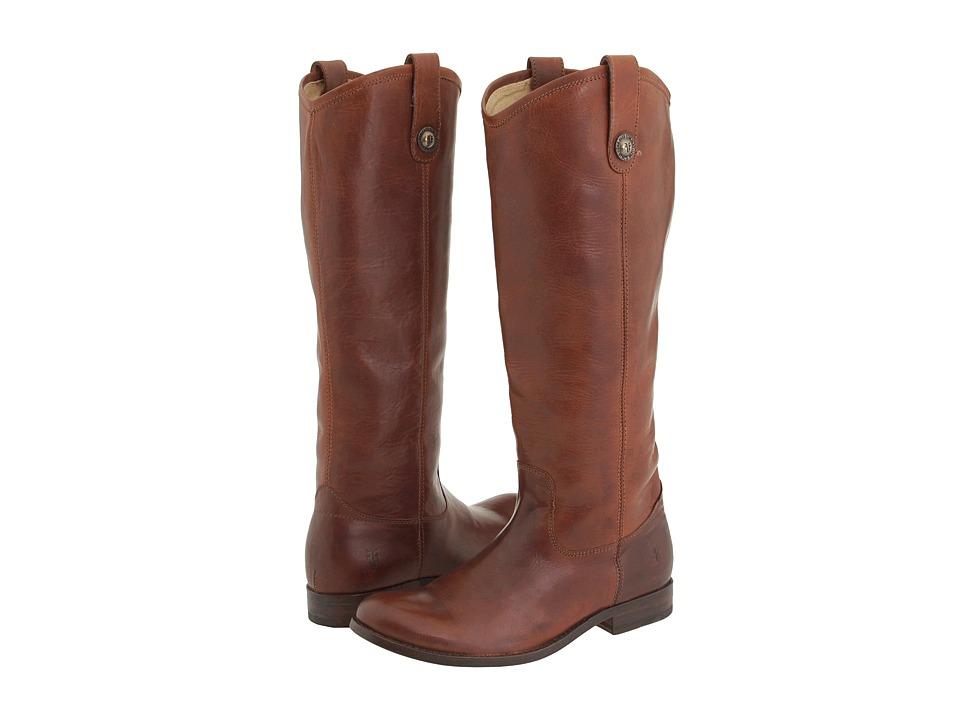 Frye Melissa Button (Cognac (Soft Vintage Leather)) Cowboy Boots