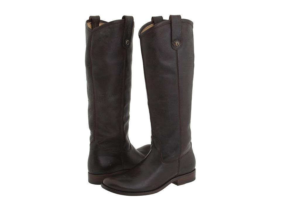 Frye Melissa Button (Dark Brown (Soft Vintage Leather)) Cowboy Boots