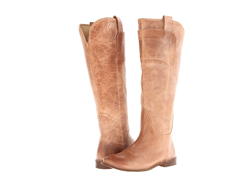 Frye - Paige Tall Riding (Tan Burnished Antique Leather) Women's Pull-on Boots